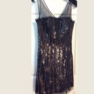 BCBG Max Azria Black Sequin Dress size 0